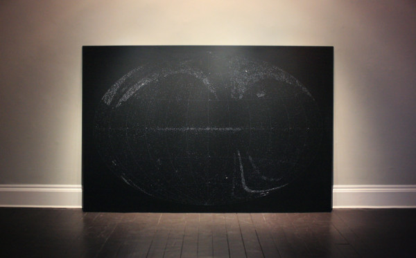 Katie Paterson All the Dead Stars, 2009 Laser etched anodised aluminium 200 x 300 cm Installation view Ingleby, Edinburgh