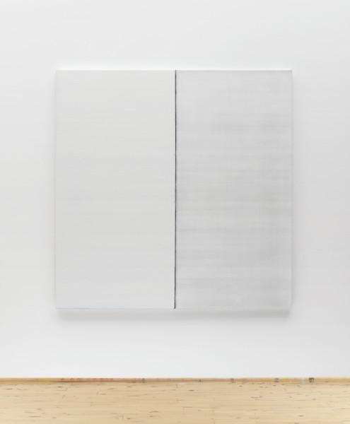 Callum Innes Untitled White No 3, 2013 oil on linen 170 x 168 cm