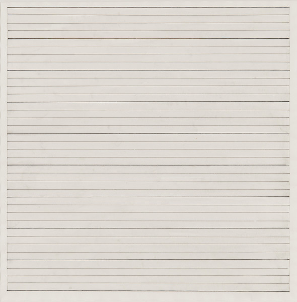 Agnes Martin Untitled, 1978 Ink and graphite on paper 24.1 x 24.1 cm
