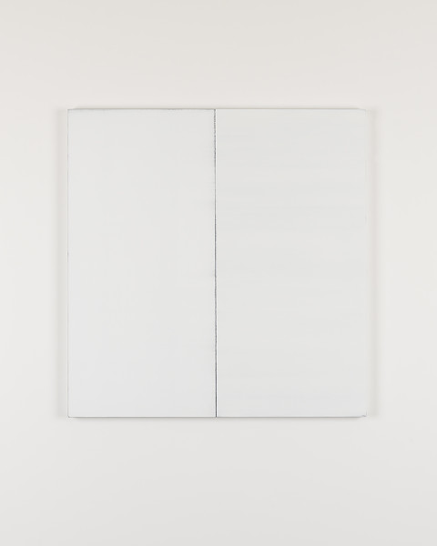 Callum Innes Untitled White No. 10, 2017 oil on linen 125 x 121 cm