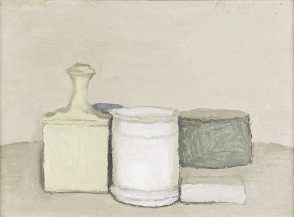Giorgio Morandi (1890 - 1964) Natura Morta, 1953 oil on canvas 33.5 x 43 cm Private collection