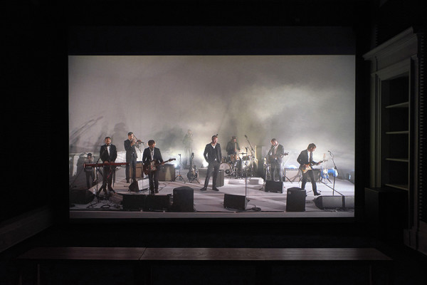 Installation view of Ragnar Kjartansson A Lot of Sorrow, 2013 Single-channel video. 6 hours and 9.35 minutes. Ingleby, Edinburgh (8 August - 2 September 2017)