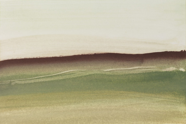 Landscape 23 2006-2010 watercolour and gouache on paper 16.2 x 24.1 cm (paper size); 43 x 57 cm (framed size)