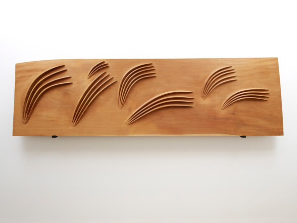 A Breath of Wind 2002-2010 mahogany 290 x 87 x 5 cm