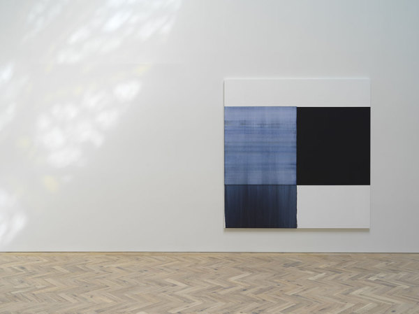 Callum Innes Exposed Painting Oriental Blue, 2018 oil on linen 235 x 230 cm