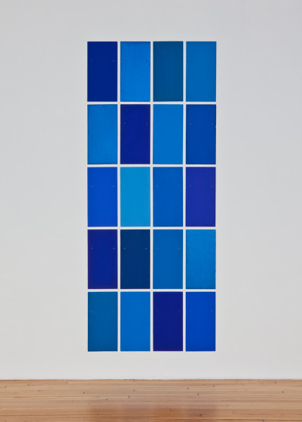Blue Angel 2010 tempera on 20 slate tiles 55.9 x 27.9 cm each; 264.2 x 129.5 cm overall
