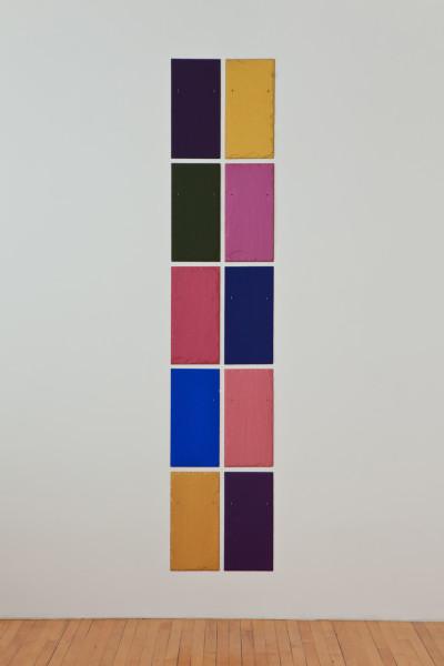 Edinburgh Totem 2010 tempera on 10 slate tiles 55.9 x 27.9 cm each; 264.2 x 63.5 cm overall