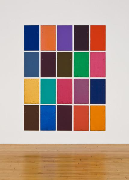 Easy Lover 2009 tempera on 20 slate tiles 50.8 x 30.5cm each; 210.7 x 162.5 cm overall