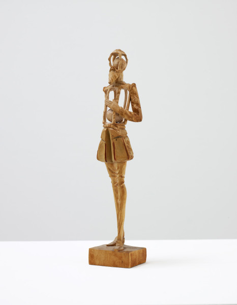 Untitled 2010 found carved figurine with further carving 5 x 5 x 23 cm