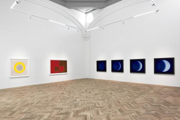 Installation view of Garry Fabian Miller: MIDWINTER BLAZE Ingleby, Edinburgh, 12 October - 20 December 2019