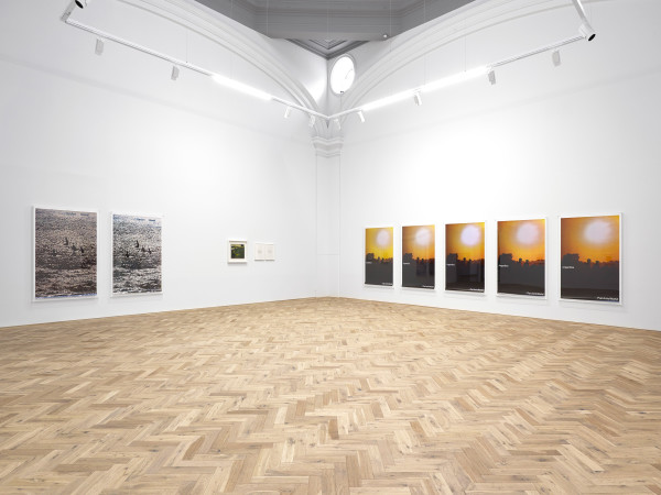 Installation view of Marine Hugonnier: TRAVEL POSTERS Ingleby, Edinburgh, 1 February - 28 March 2020