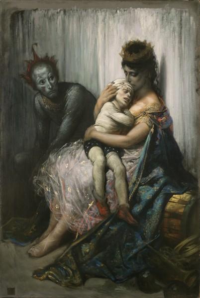Gustave Doré La famille du saltimbanque: l'enfant blessé