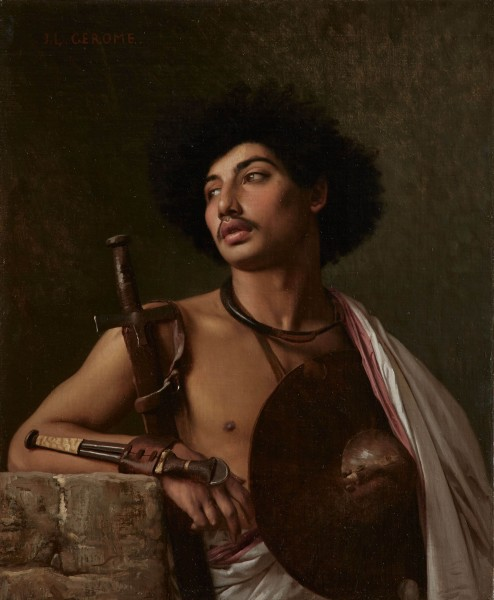 Jean-Léon Gérôme A Bischari Warrior