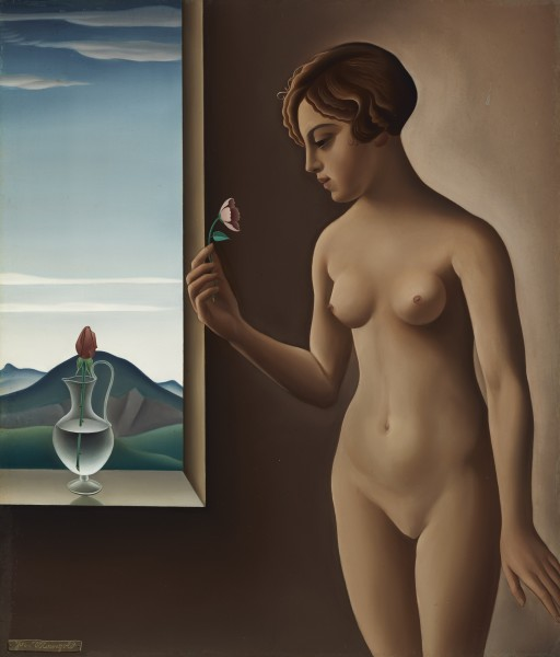 Josef Mangold Nude by a Window