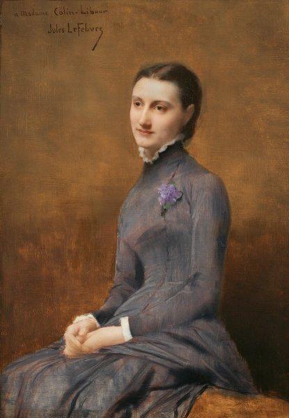 Jules Joseph Lefebvre, Portrait of Madame Colin-Libour