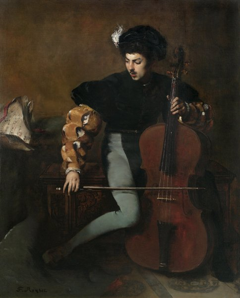 Ferdinand Roybet, The Cellist
