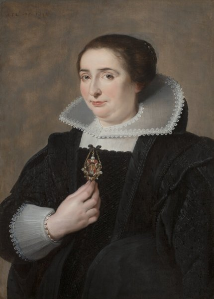Cornelis de Vos, Portrait of a Lady dressed in Black, 1632