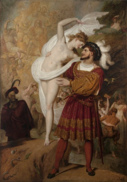 Richard Westall, Faust and Lilith (Faust preparing to waltz with the young Witch at the Festival of the Wizards and Witches in the Hartz Mountains), 1831