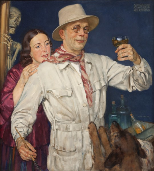 Albert Janesch, Self Portrait with his Wife, 1933