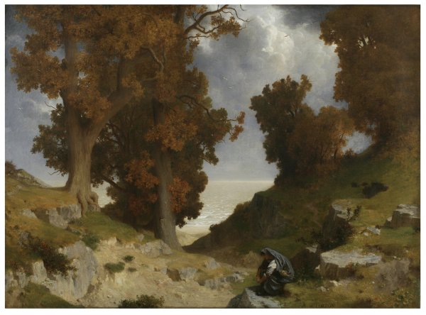 Alfred de Curzon, Landscape with the Figure of Clotho