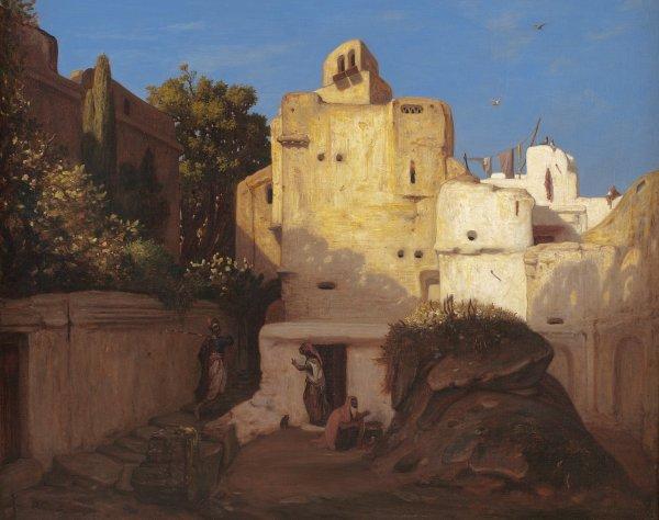Alexandre-Gabriel Decamps, Arab Town Scene