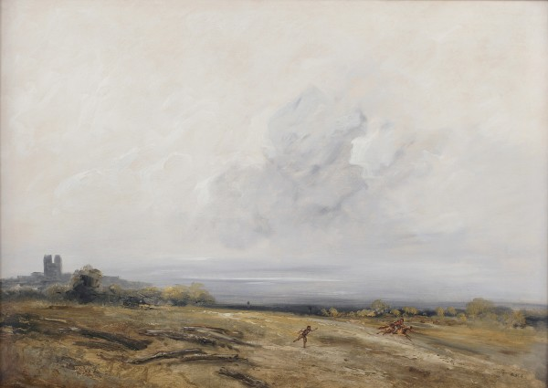 Georges Michel, Man and Rider in a Landscape