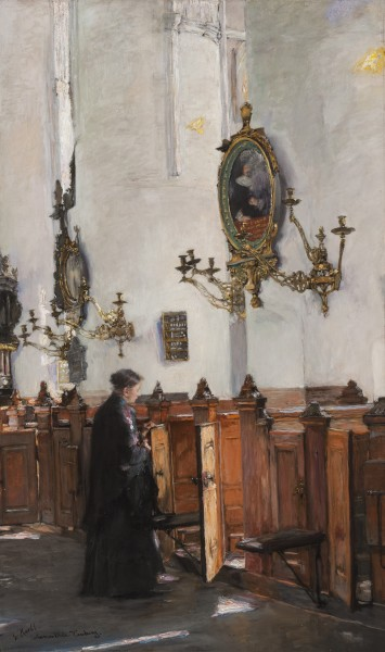 Gotthardt Kuehl, Interior of St. Catherine's Church, Hamburg, 1890