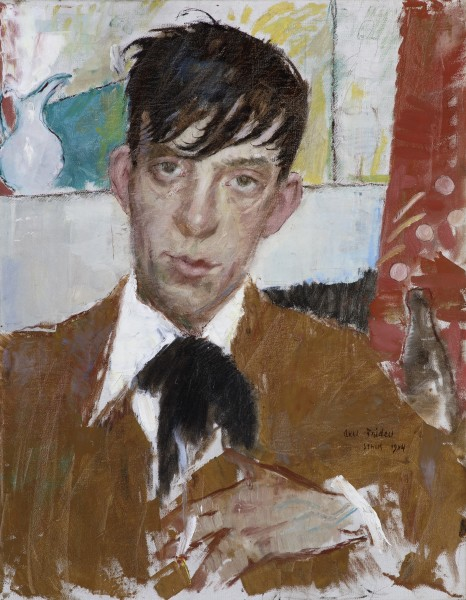 Axel Fridell, Portrait of Einar Forseth, 1914