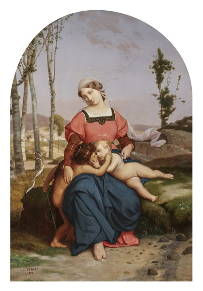 Jean-Léon Gérôme, The Virgin, Christ Child, and Infant Saint John the Baptist, 1853
