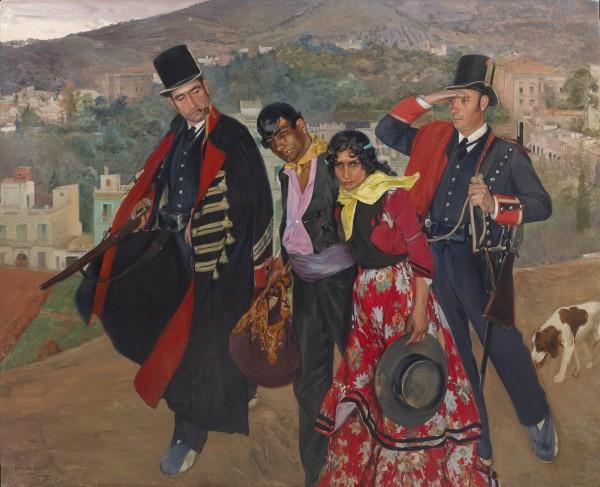 Carlos Vázquez Úbeda, Mozos de escuadra (Catalan Police Arresting Gypsies), 1906