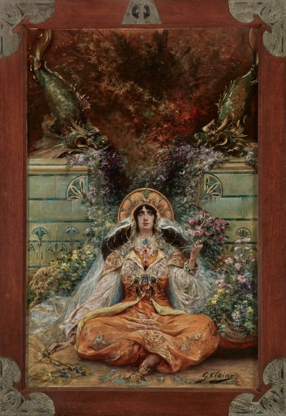 Georges Clairin, Sarah Bernhardt in the Role of Izeyl, circa 1894