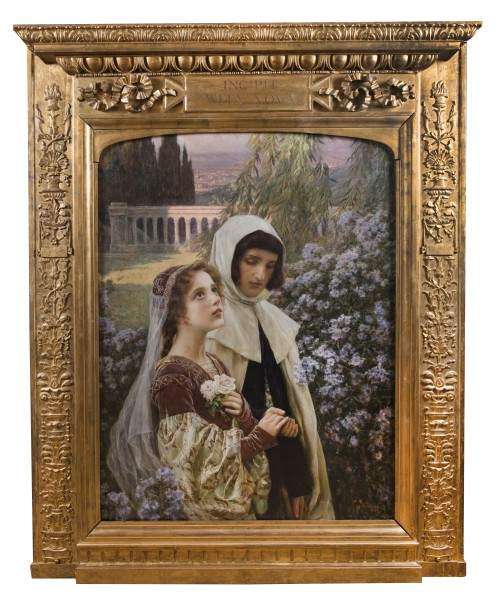 """Cesare Saccaggi, """"Incipit Vita Nova"""" - Dante, 1903"""