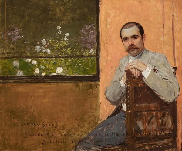 Jan van Beers, Portrait of Jean-Philippe Worth seated by a Window, 1884