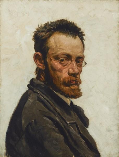 Valdemar Henrik Nicolai Irminger, Self Portrait, 1894