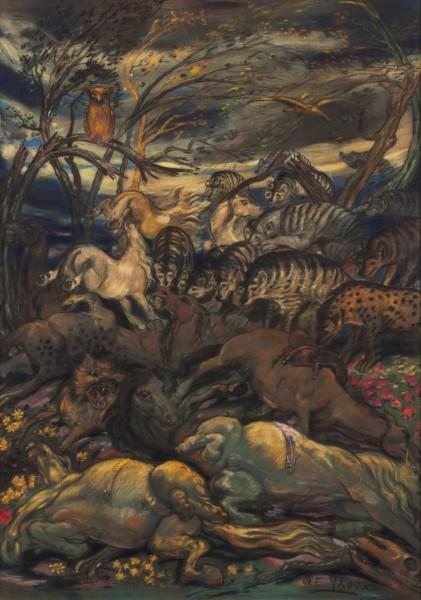 Henry De Groux, Le Charnier: Les Chevaux blessés (The Mass Grave: The Wounded Horses), 1894