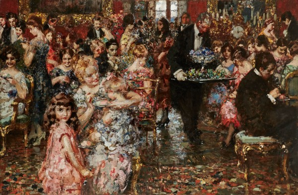 Vincenzo Irolli, The Reception, circa 1920