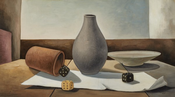 Eberhard Viegener, Still Life with Dice, 1948