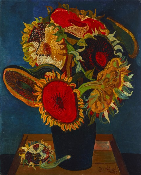 Josef Scharl, Sunflowers, 1935