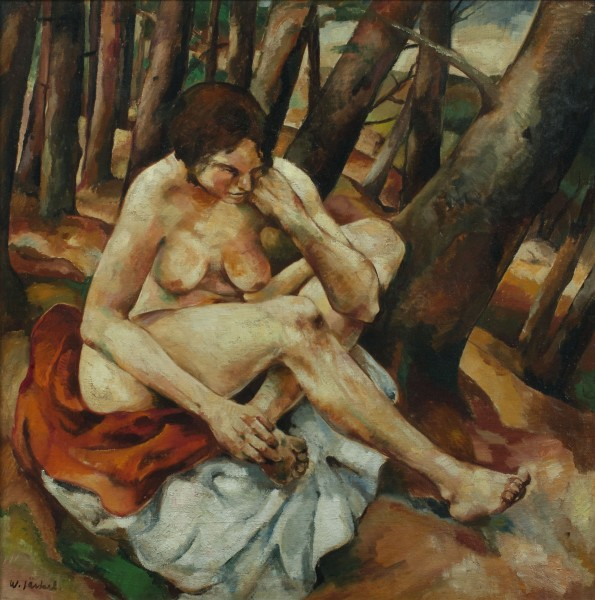 Willy Jaeckel, Sitzender weiblicher Akt (Seated Female Nude)