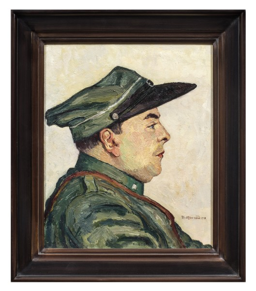 Marcel Victor d'Eternod, Soldier in Profile, 1918