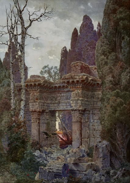 Ferdinand Knab, Roman Ruin at Twilight, 1894
