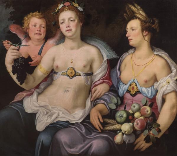 Cornelis Cornelisz van Haarlem, Venus, Cupid and Ceres, 1604