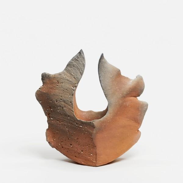 Yasuhisa Kohyama #022067 Homura (Flamme), Vase, 2019 Steinzeug, Anagama-Brand 28 x 27 x 10 cm