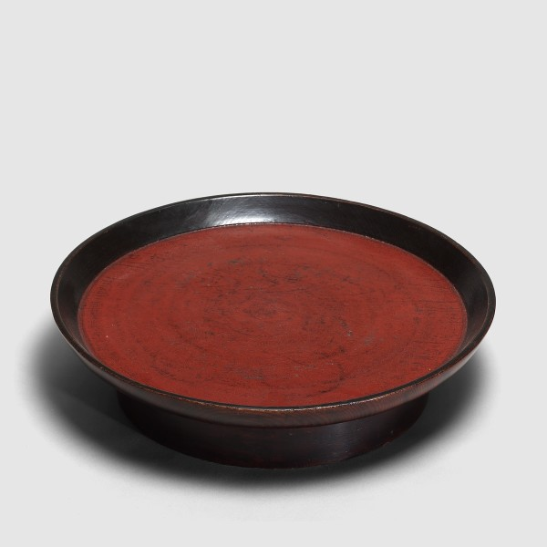 Lack, #003930 Maru-bon - round lacquer tray