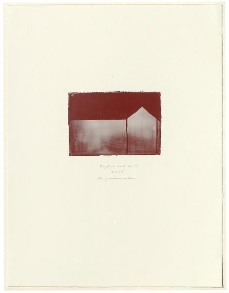 Hideaki Yamanobe, #015069 English red No. 19, 2005
