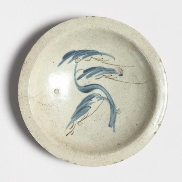 Keramik, #001097 Ishizara - Steintelle mit Kiefernmotiv, 2. Hälfte Edo-Zeit (1615-1868)