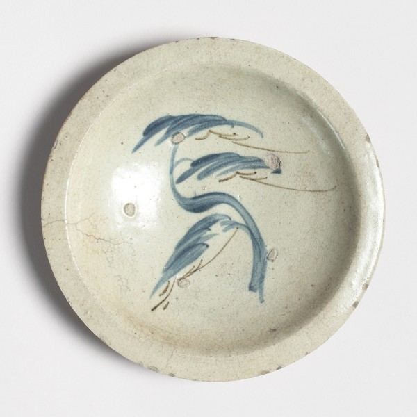 Mingei, #001097 Ishizara - Steintelle mit Kiefernmotiv, 2. Hälfte Edo-Zeit (1615-1868)