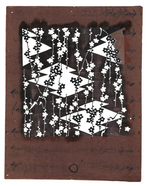 Katagami / Uwagami, #014729 Uwagami (Entwurfsschablone) , Japan, Späte Edo-Zeit / Meiji-Zeit (2. H. 19. Jh. / Anfang 20. Jh.)