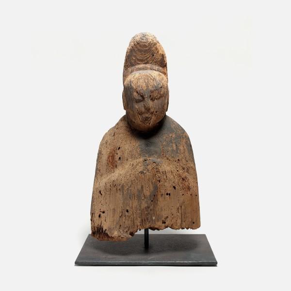Holzobjekte, #001209 Shinzô, Shintoistische Gottheit (Kultstatue), Nara-/Heian-Zeit (645-1184)