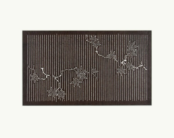 Katagami / Uwagami, #016735 Katagami (Textilfärbeschablone), Japan, Späte Edo-Zeit / Meiji-Zeit (2. H. 19. Jh. / Anfang 20. Jh.)